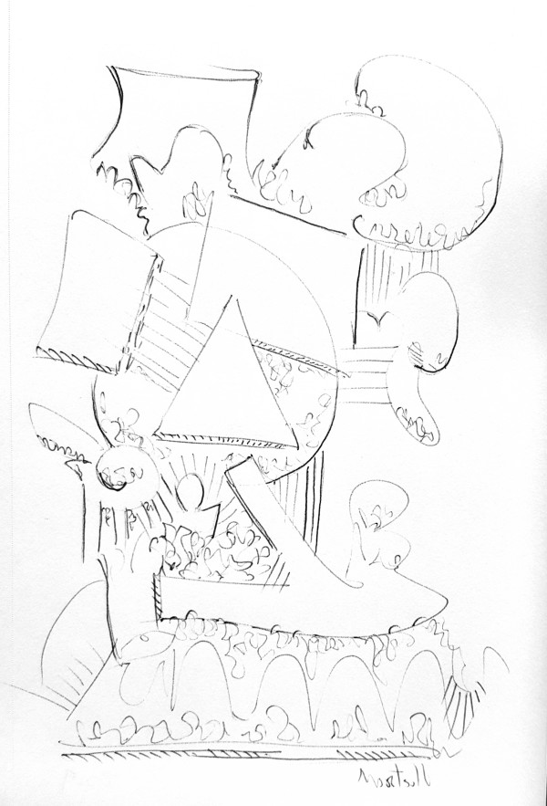 Building Blocks, the drawing by Dave Martsolf