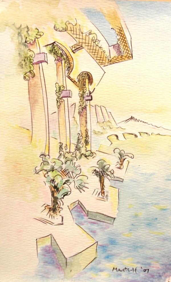 Mediterranean Summer Morning by Dave Martsolf