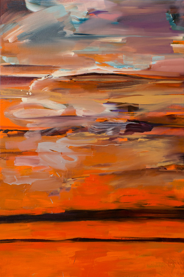 Abstract Study (stacked horizons no1) by Pamela Staker