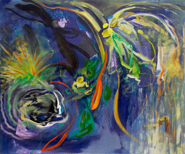 Abstract Study (garden at night) by Pamela Staker