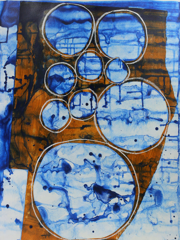 Abstract Study (many moons) by Pamela Staker