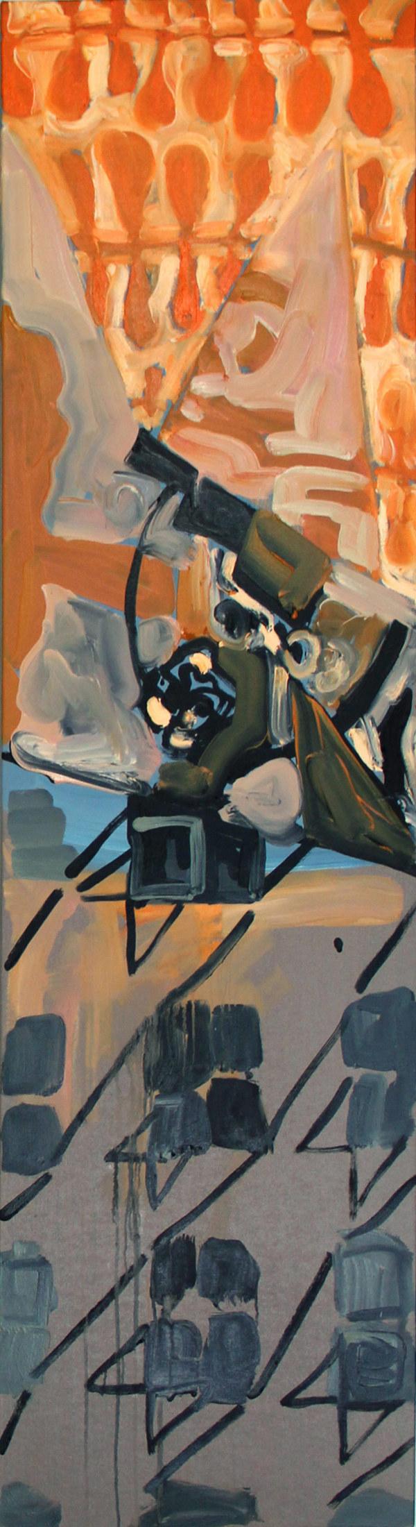 Houndstooth Series (orange loops) by Pamela Staker