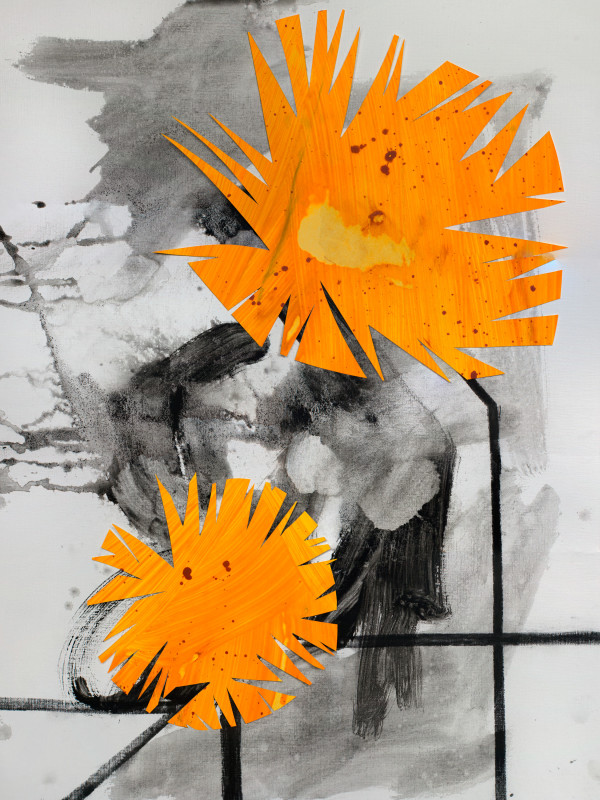 Midwestern Haiku (dandelions no.2) by Pamela Staker