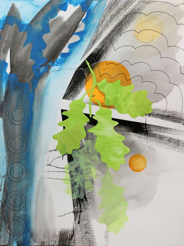 Midwestern Haiku (english oak 2) by Pamela Staker