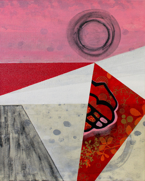 Abstract Interior (primary colors red no.1) by Pamela Staker