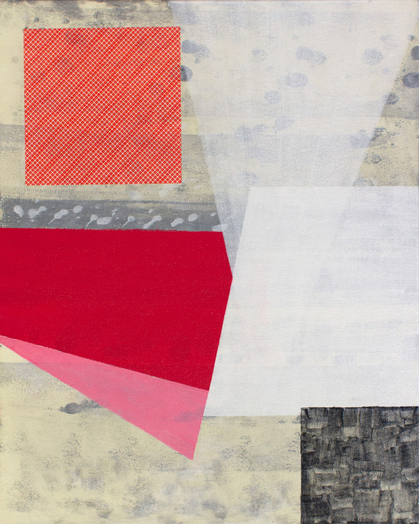 Abstract Interior (primary colors red no.2) by Pamela Staker