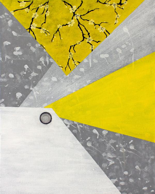 Abstract Interior (primary colors yellow no.1) by Pamela Staker