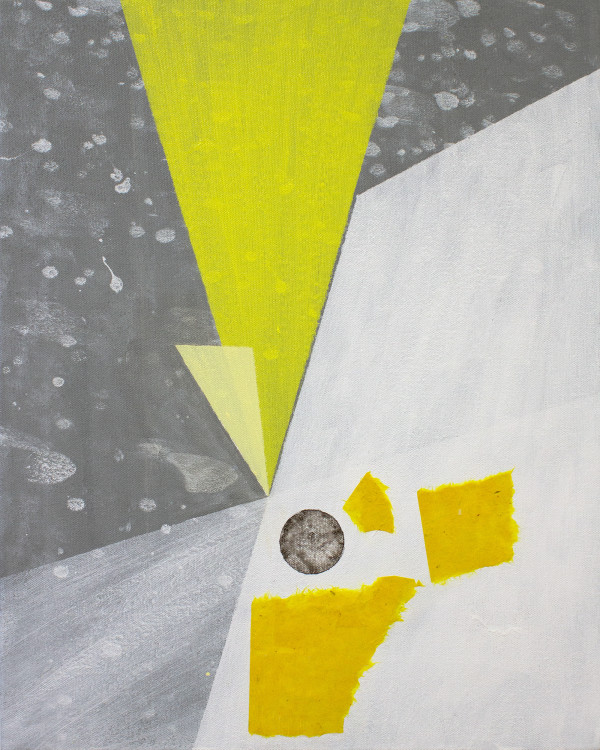 Abstract Interior (primary colors yellow no.2) by Pamela Staker