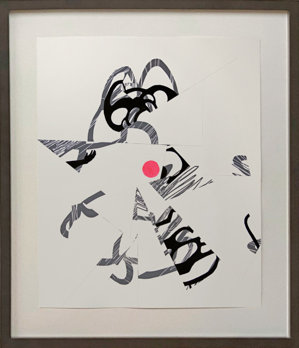 Repurposed Failure Series (pink dot) by Pamela Staker