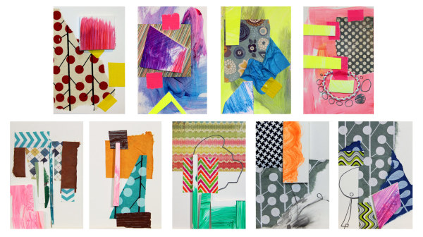 Mini Interiors 3, 9, 10, 12, 13, 14, 16, 17, 19 by Pamela Staker