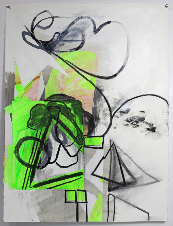 Abstract Study (green tree) by Pamela Staker