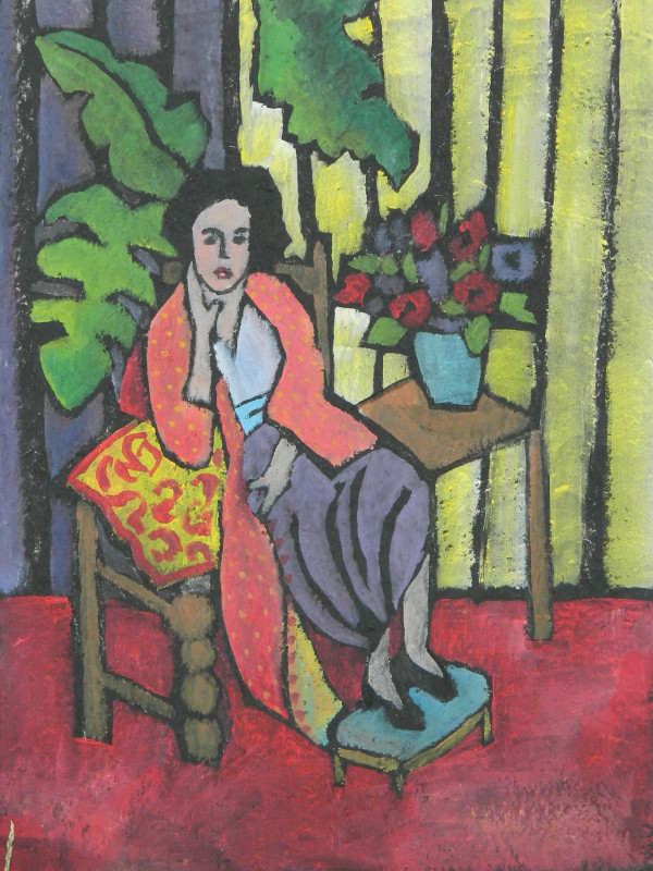 Woman in the Red Robe by Kayann Ausherman