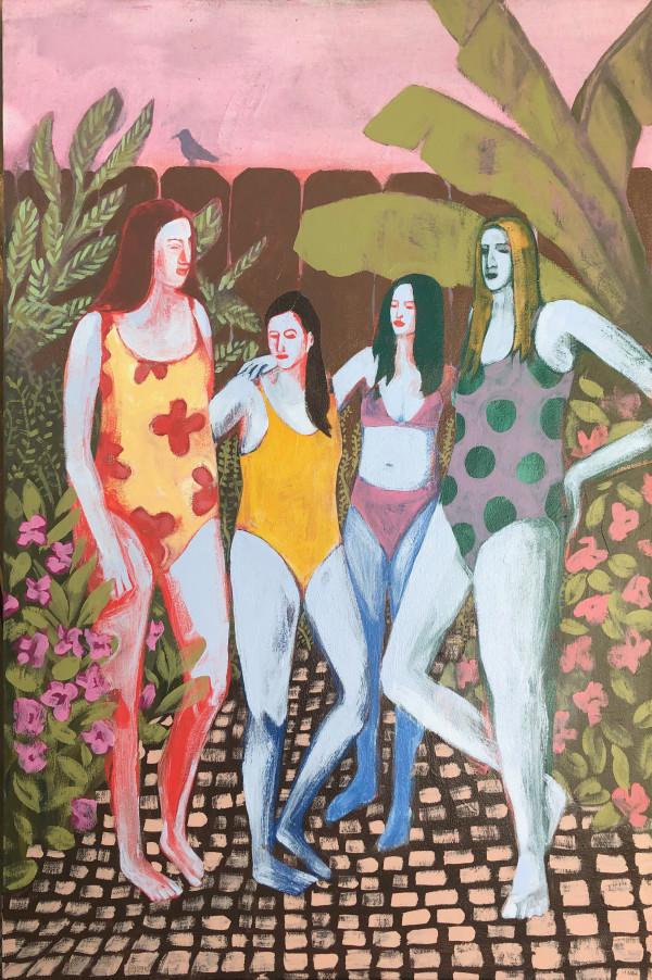 Girls at Sunset by Maddie Stratton