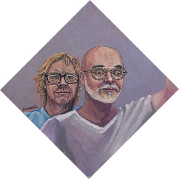 Portrait of Kurt and Chris Covid by Steve Miller