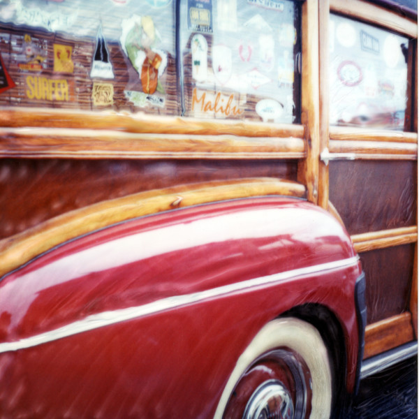 Red Woody Wagon by Rene Griffith
