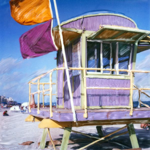 Lavender Lifeguard Stand by Rene Griffith