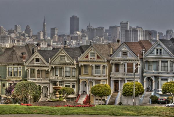 San Francisco Postcard Row by Rene Griffith
