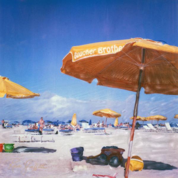 Yellow Beach Umbrellas by Rene Griffith
