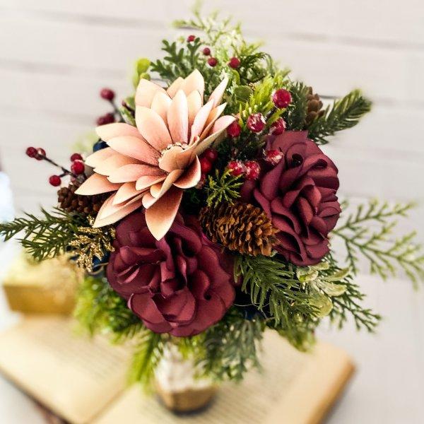Winter Paper Flower Bouquet by Mallorie Evans