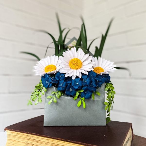 Paper Daisies Stuffed Envelope by Mallorie Evans