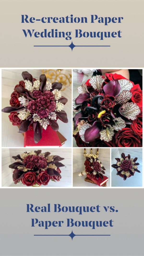 Paper Bouquet Re-Creation by Mallorie Evans