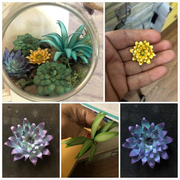 Custom Paper Succulent Terrarium by Mallorie Evans