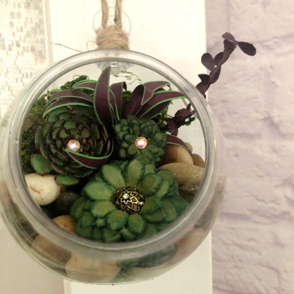 Paper Succulent Terrarium by Mallorie Evans
