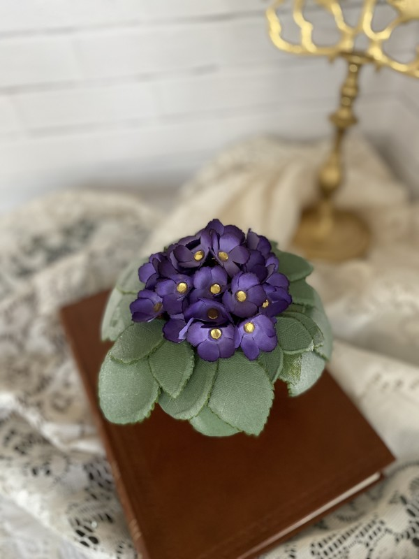 Paper African Violet Centerpiece by Mallorie Evans