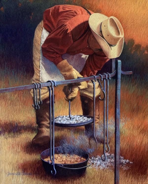 Chuck wagon Cooks - Cobbler by Jeannette Cuevas