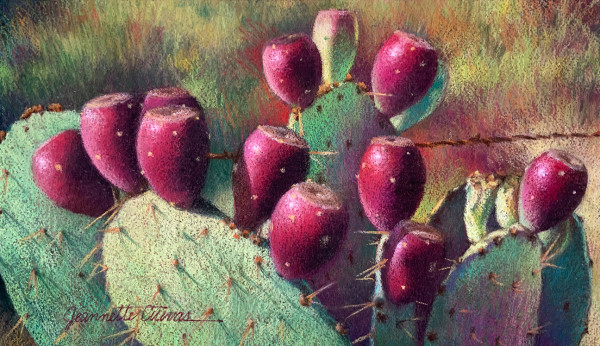 Plum Prickly by Jeannette Cuevas