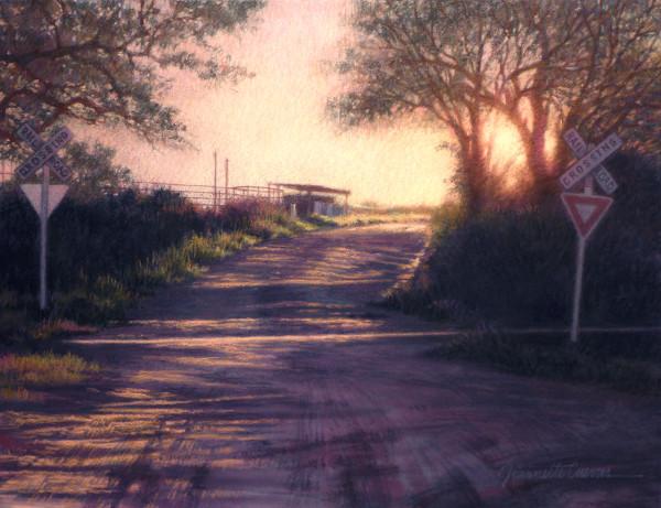 Sunset Crossing by Jeannette Cuevas