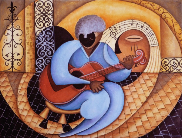Basin Street Blues by Marcella Hayes Muhammad