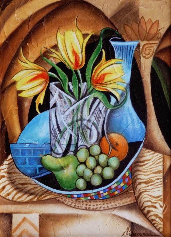 Fiesta Tulips by Marcella Hayes Muhammad