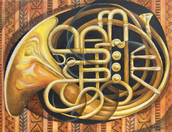 French Horn Squared by Marcella Hayes Muhammad