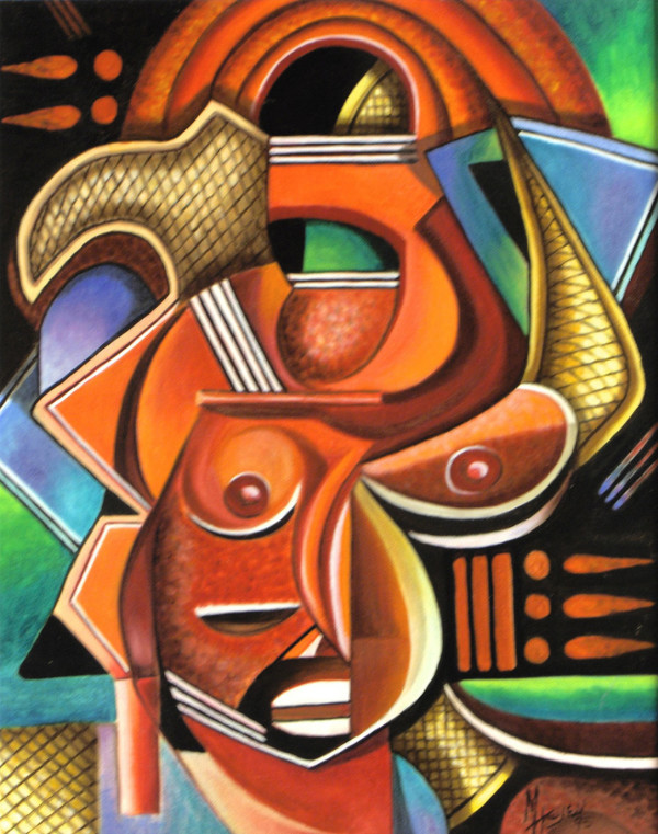 Maruvian Horned Mask by Marcella Hayes Muhammad