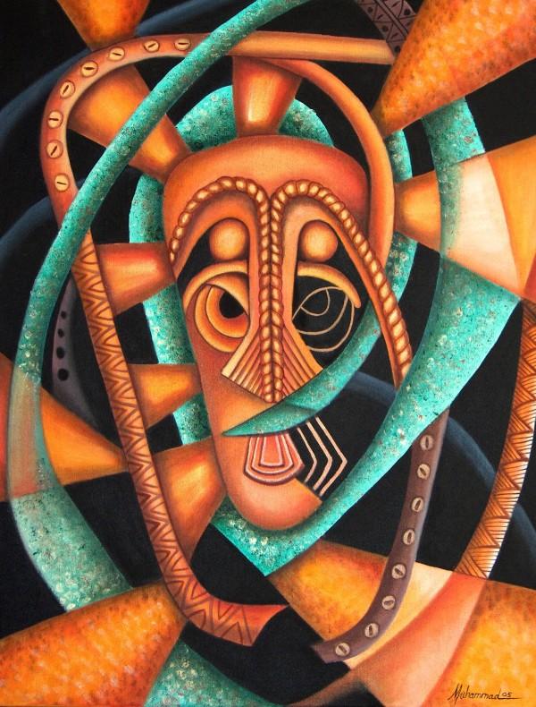 Maruvian Copper Mask II by Marcella Hayes Muhammad