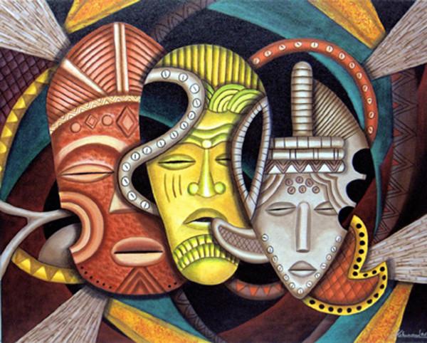 Maruvian Female Society Masks by Marcella Hayes Muhammad