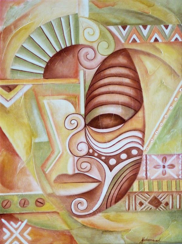 Maruvian Male Mask by Marcella Hayes Muhammad