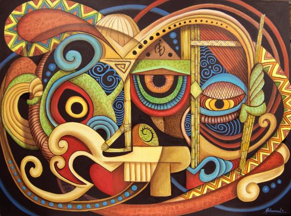 Maruvian Warrior Masks by Marcella Hayes Muhammad