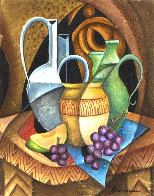 Melon And Grapes by Marcella Hayes Muhammad