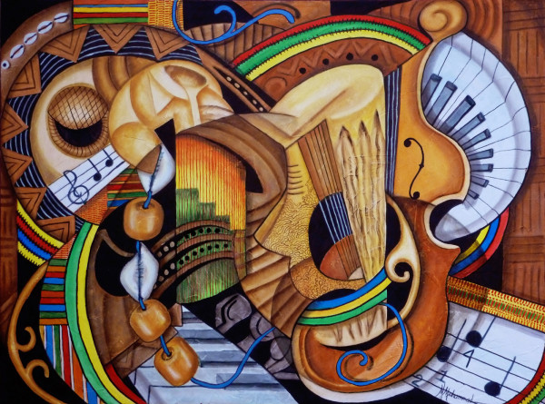 Musical Ties by Marcella Hayes Muhammad