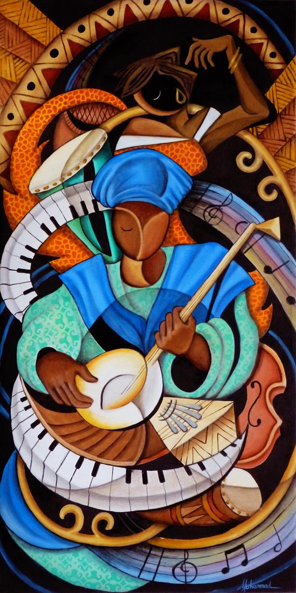 The Musician And Dancer by Marcella Hayes Muhammad