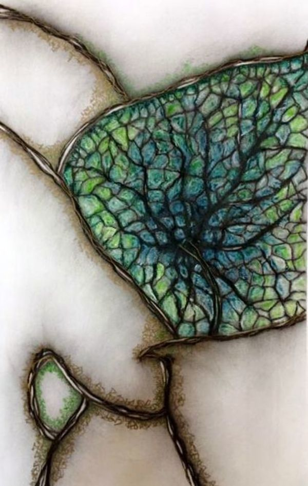 Stained Glass Leaf by Brenda Gribbin