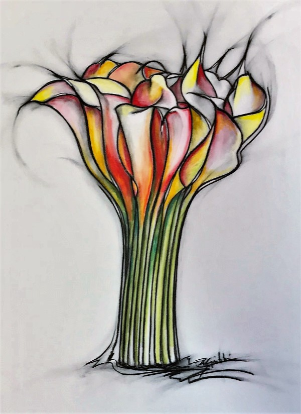 Sunset Callas by Brenda Gribbin