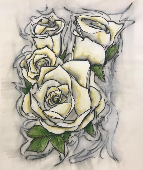 Yellow Roses by Brenda Gribbin