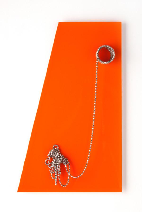 Moderne'  Trapezoid orange by Beth Kamhi