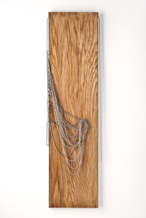 woven wood panel by Beth Kamhi