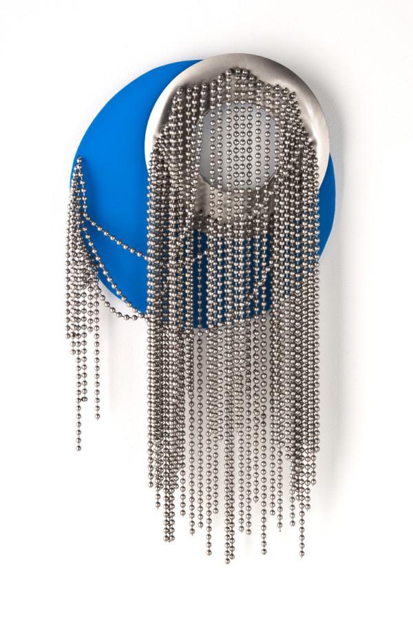 Moderne' Blue Circle by Beth Kamhi
