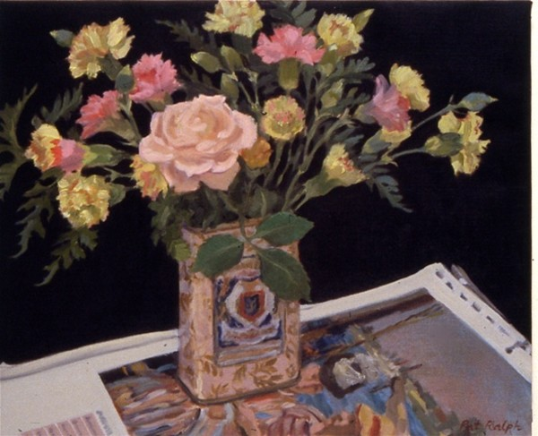 Carnations and Rose by Pat Ralph