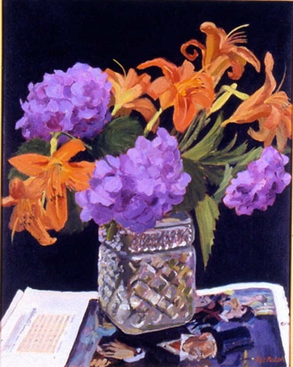 Hydrangeas and Daylilies by Pat Ralph
